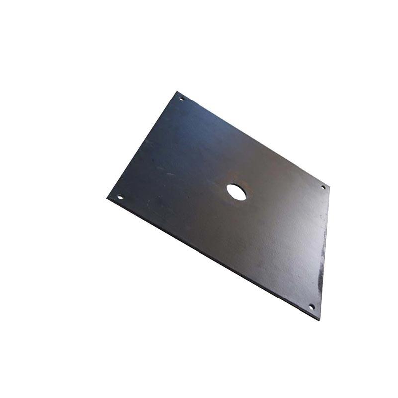 Platine Additionnelle pour Platine Carrée Noire (acier) - vue côté -MACAP