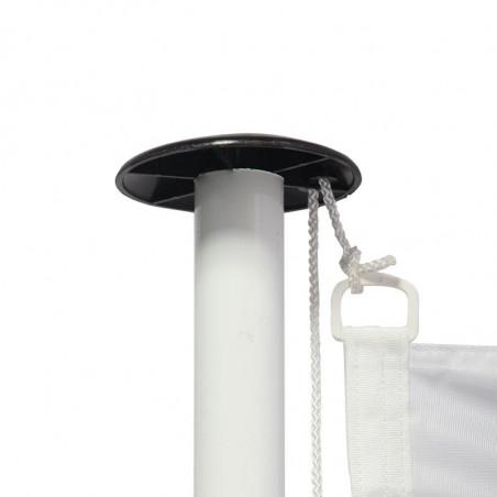 Drapeau pour Mât de Façade (forme horizontale) - vue fixation haute - MACAP