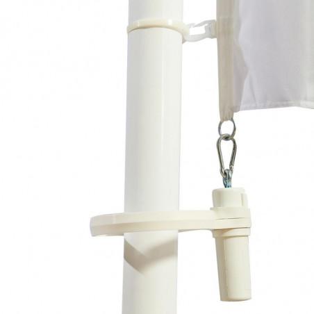 Drapeau pour Mât Potence à Glissière (forme verticale) - vue fixation basse -MACAP