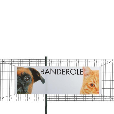 Banderole Intissé & Textile (fixation tourillon plastique + sandows)