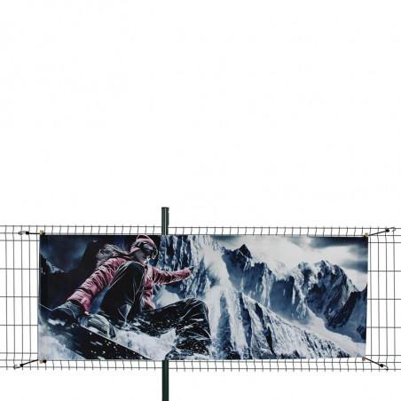 Bâche PVC (fixation tourillons en bois et sandows) - MACAP