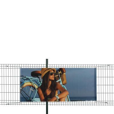 Bâche PVC (fixation tourillons en plastique et sandows)