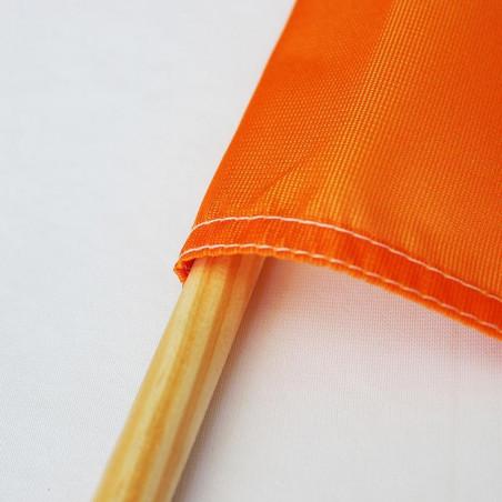 Drapeau Textile personnalisé (Hampe en bois) - vue gros plan -MACAP
