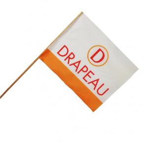 Drapeau Textile personnalisé (Hampe en bois) - MACAP