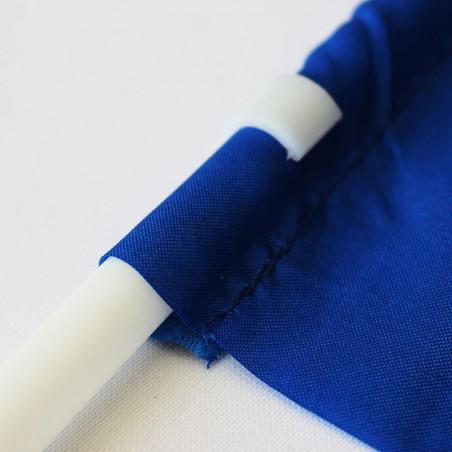 Drapeau Textile personnalisé à agiter (Hampe en plastique) - vue gros plan -MACAP