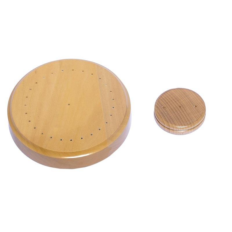 Socle en bois pour drapeau de table - MACAP