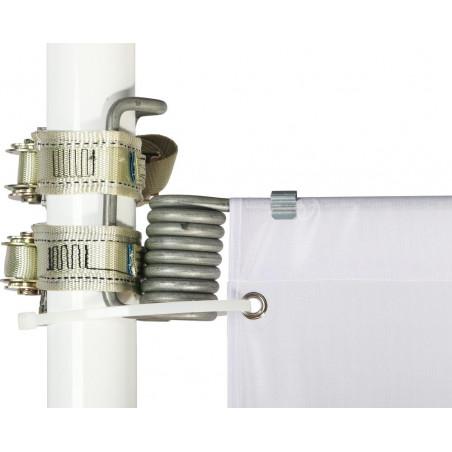 Kakémono pour lampadaire avec potence à ressort en montage simple - vue fixation haute mât -MACAP