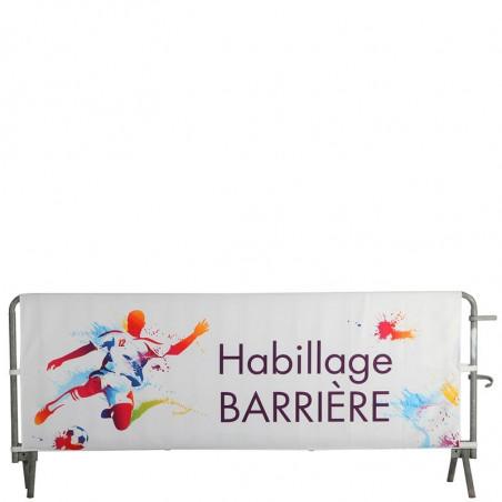 Habillage de Barrière DOUBLE FACE (montage velcros) - MACAP