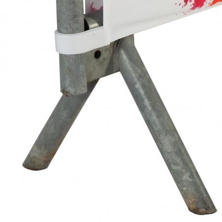 Habillage de Barrière DOUBLE FACE (montage velcros) - vue fixation basse -MACAP