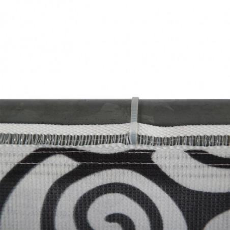 Habillage de Barrière SIMPLE FACE (montage ruflette) - vue fixation -MACAP