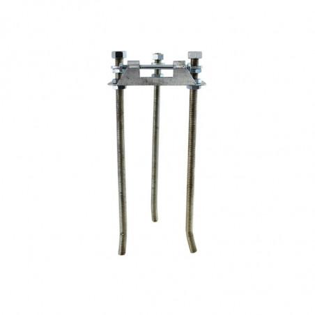 Platine basculante de fixation au sol (mât fibre de verre) - MACAP