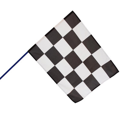 Drapeau de Course Automobile (Hampe en bois bleue)