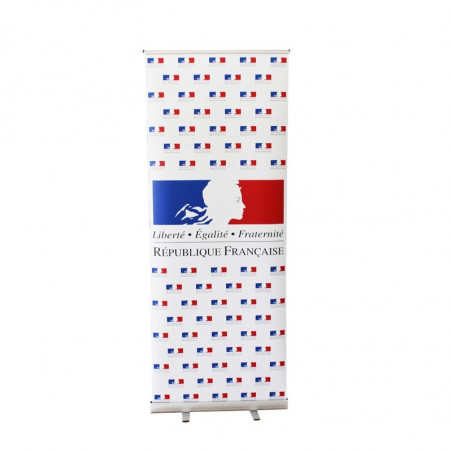 Display officiel roll up peronnalisé - version liberté égalité fraternité -MACAP