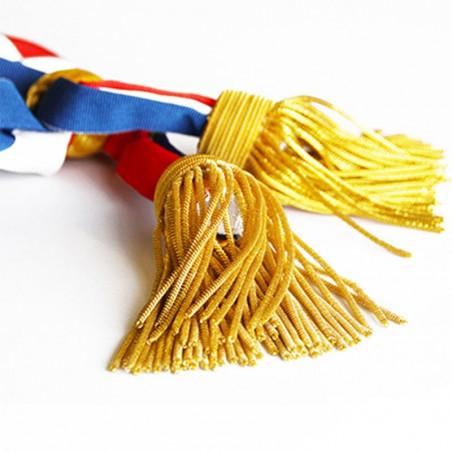 Écharpe de maire et de parlementaire - vue glands dorés -MACAP