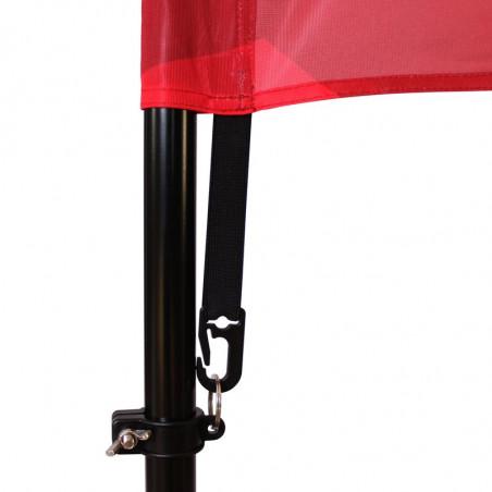 Beach flag - Oriflamme POTENCE (KIT complet) - vue fixation basse -MACAP