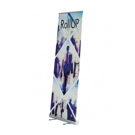 Roll-up (visuel interchangeable) - vue de côté - MACAP
