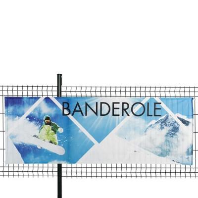 Banderole Intissé & Textile (fixation ruflette)