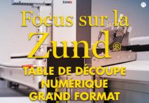 La table de découpe numérique découpe les textiles et PVC