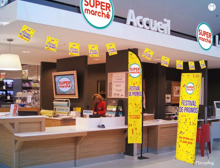 Macap vous propose des supports de plv pour les supermarchés