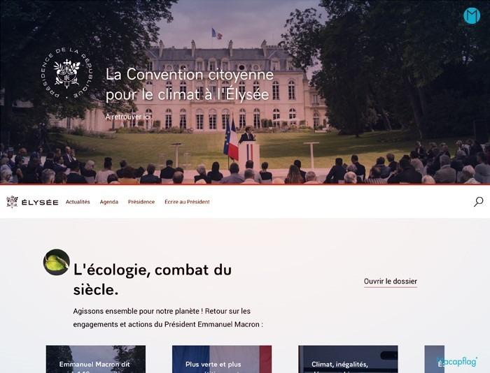 L'Elysée dispose d'un site internet relooké par Emmanuel Macron
