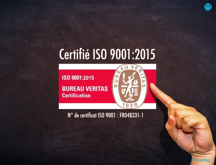 Macap est une entreprise française certifiée ISO 9001:2015