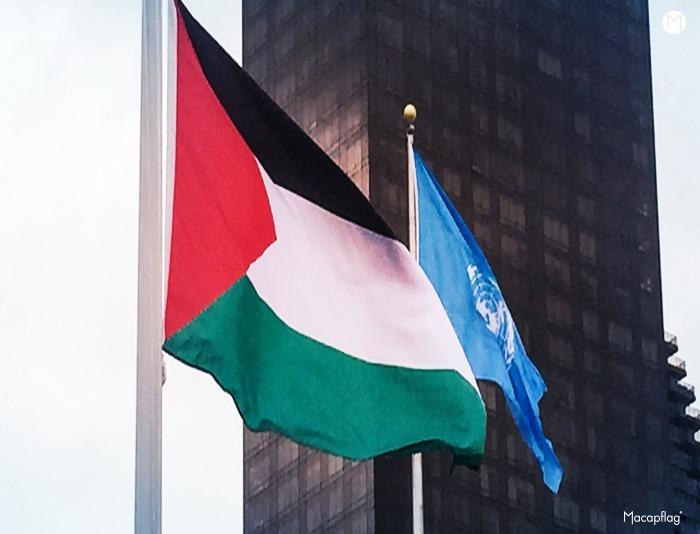 Le drapeau de la palestine flotte enfin au siège de l'ONU