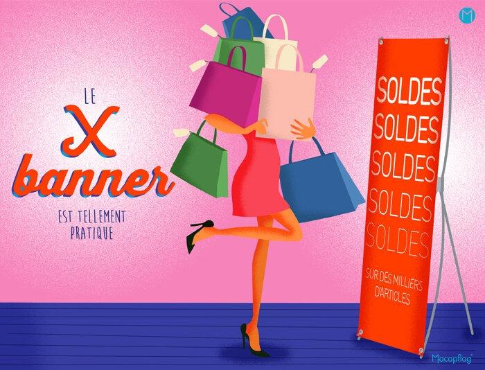 Le x banner, un outil display pratique, pas cher et rentable