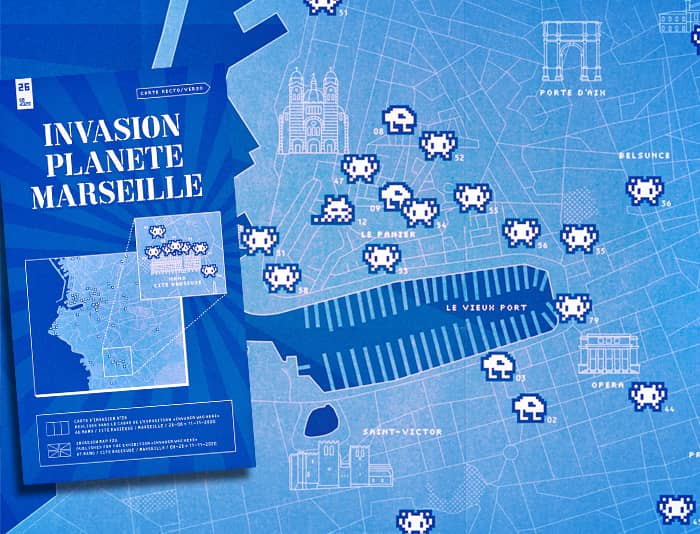 Plan d'attaque invader à Marseille