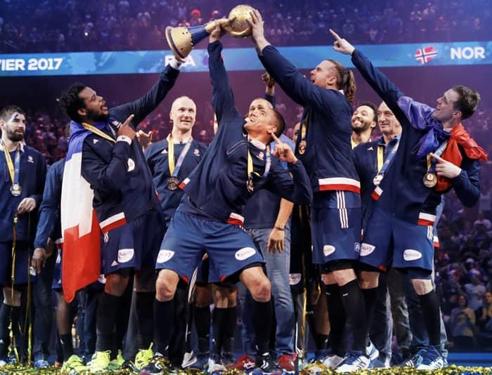 En 2017, l'équipe de France masculine de handball championne du monde