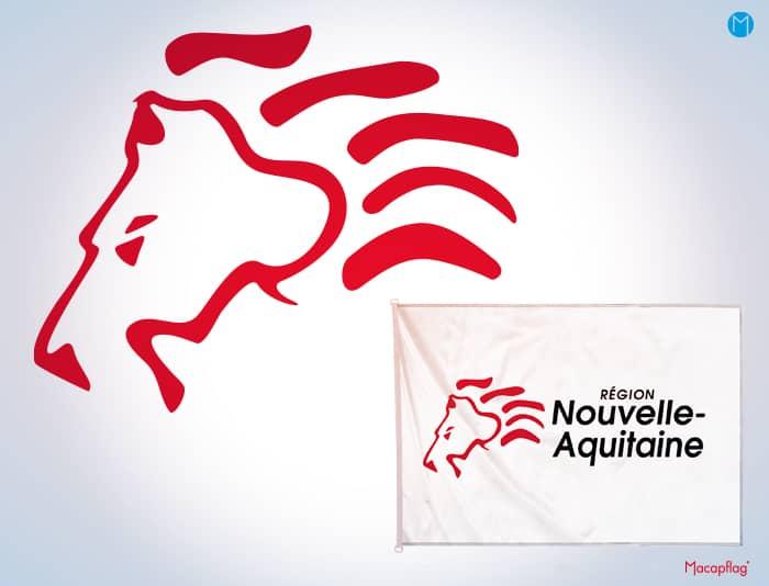 Emblème du drapeau de la région Nouvelle Aquitaine
