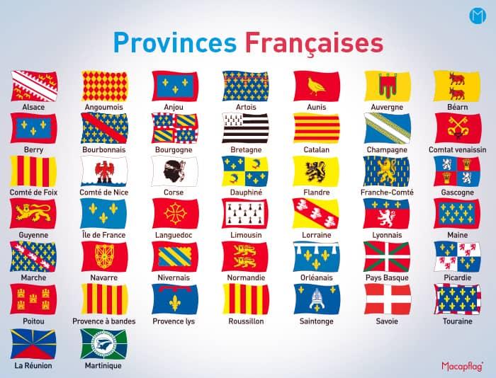 Drapeaux des provinces françaises
