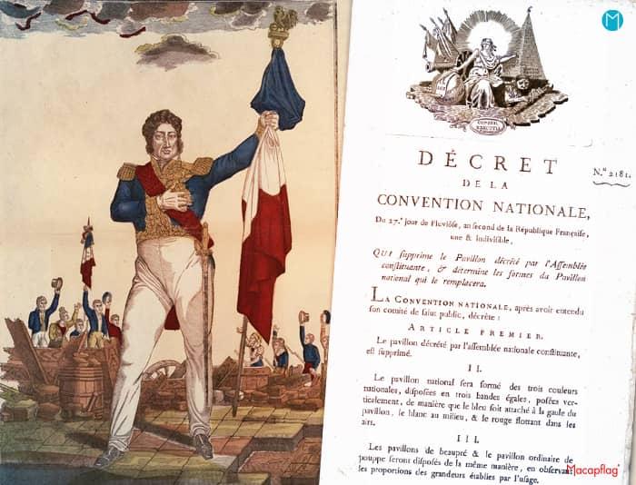 L'assemblée adopte officiellement le drapeau tricolore français