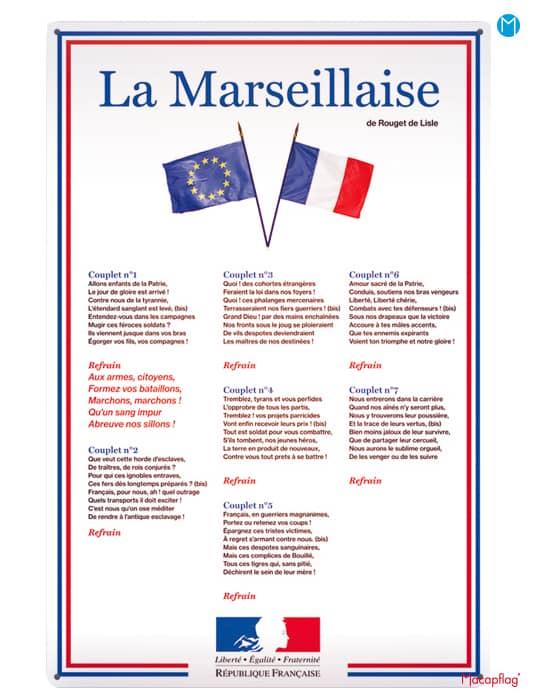 Affiche loi blanquer paroles de la Marseillaise
