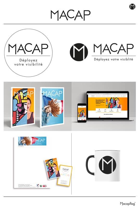 Déclinaison du logo Macap en petit format