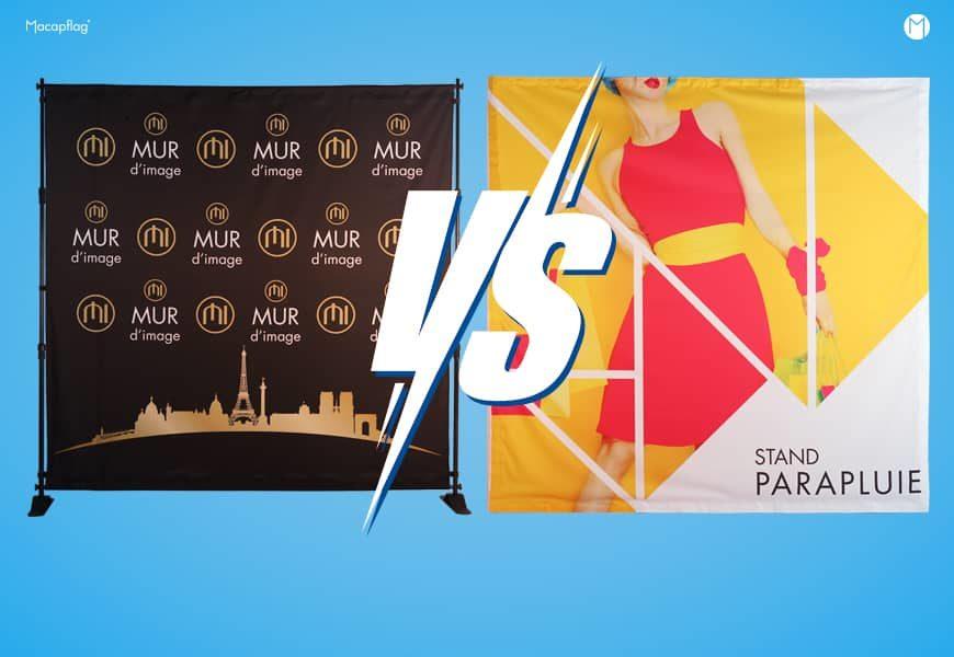 Mur d'image photocall ou stand parapluie, quel produit choisir?
