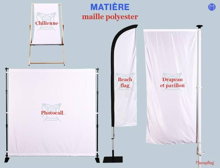 Les supports de com fabriqués en maille polyester