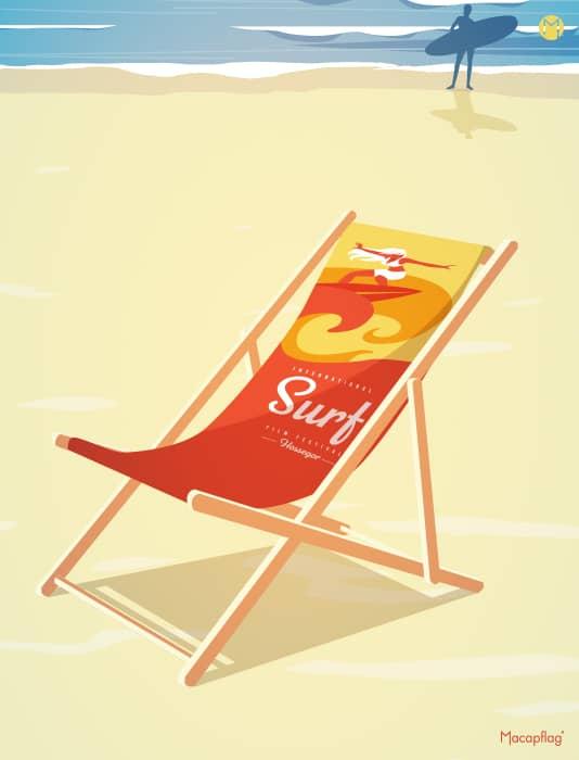 La chilienne chaise longue publicitaire personnalisable