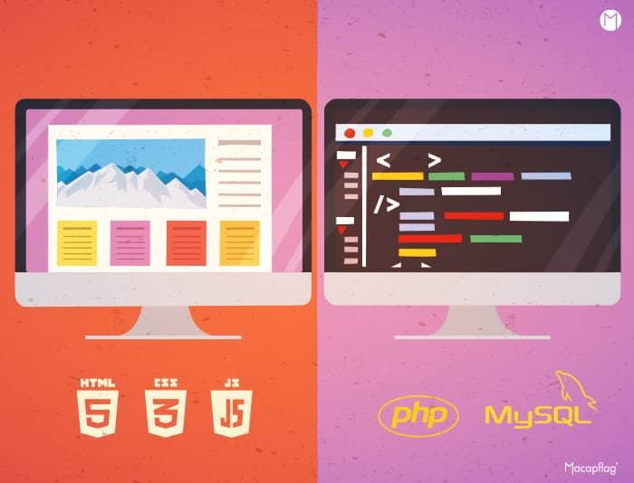 Un développeur back-end ou front-end pour les 2 parties d'un site web