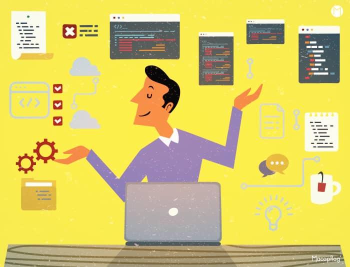 Un développeur full stack gère le front-end et le back-end d'un site