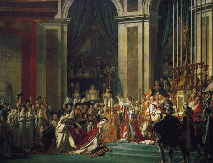 Le sacre de Napoléon, un tableau immense de Jacques Louis David