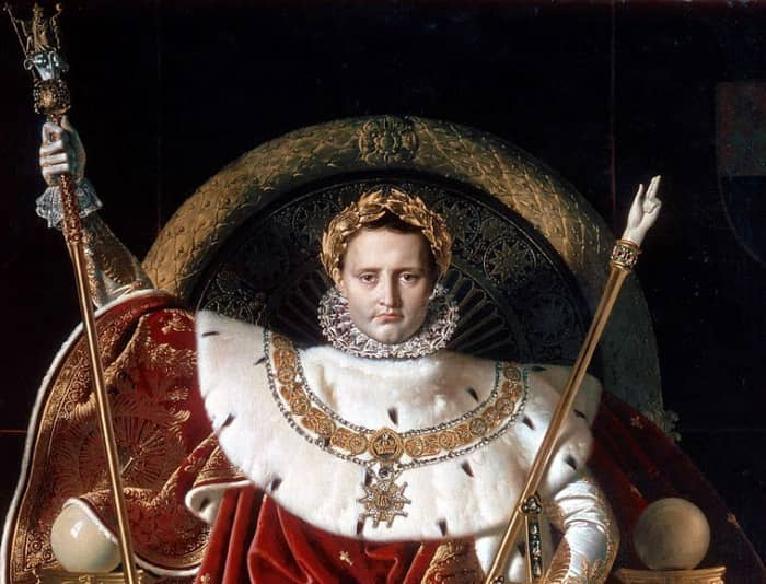 Le sceptre et la main de justice sont deux symboles de Napoléon
