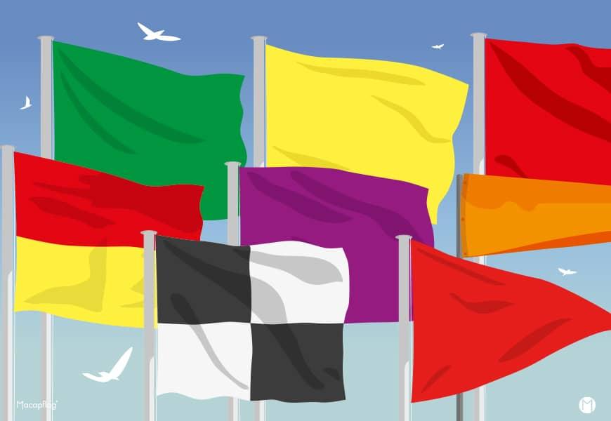 La réglementation française des drapeaux de baignade