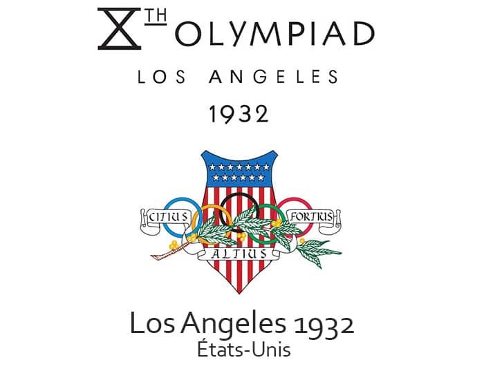 Les jeux olympiques (JO) de 1932 ont eu lieu à Los Angeles aux Etats-Unis