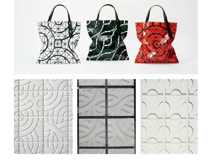 Les motifs crées par Asao Tokolo pour des sacs ou des façades en 3D