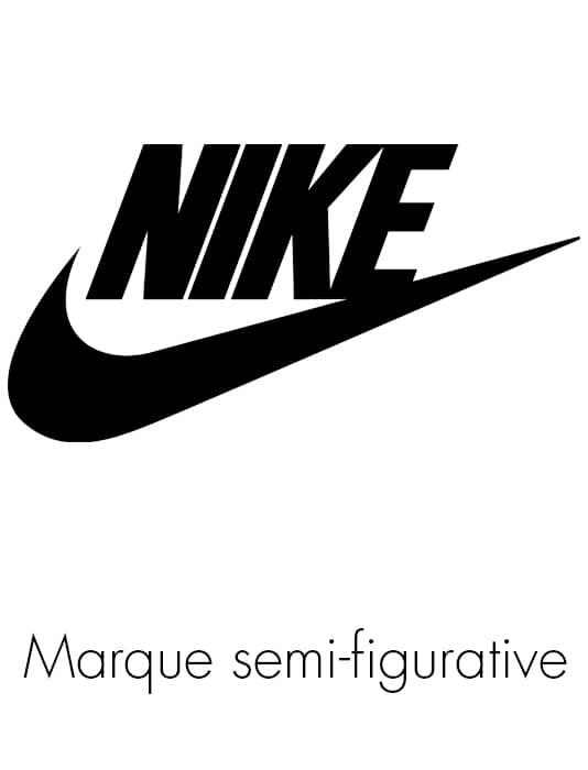 Exemple de marque semi figurative avec la virgule de Nike