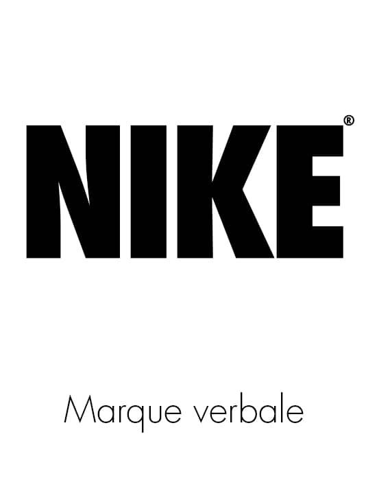 Illustration de marque verbale ou figurative avec l'exemple de Nike