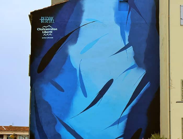 L'immense peinture de Michael Beerens sur le port de Toulon