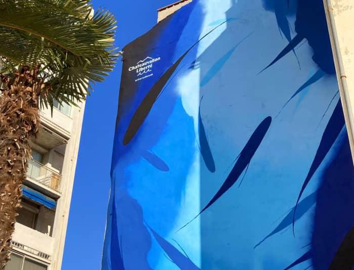En 2021, Michael Beerens a dessiné sur un immeuble du port de Toulon