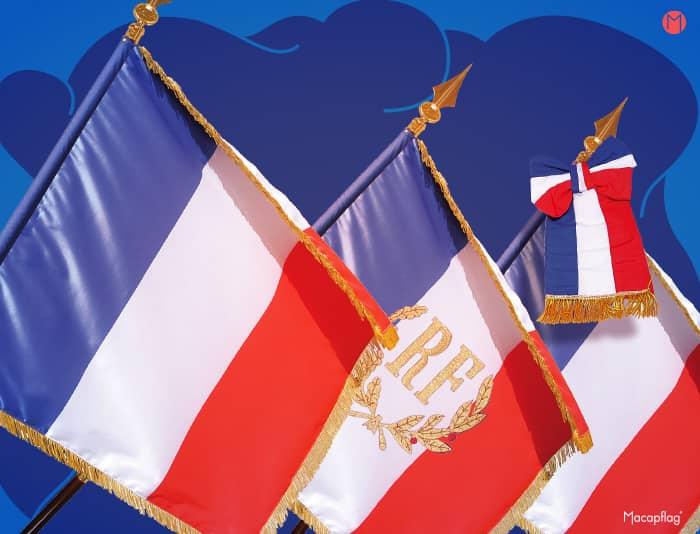 Drapeau France de défilé et de prestige