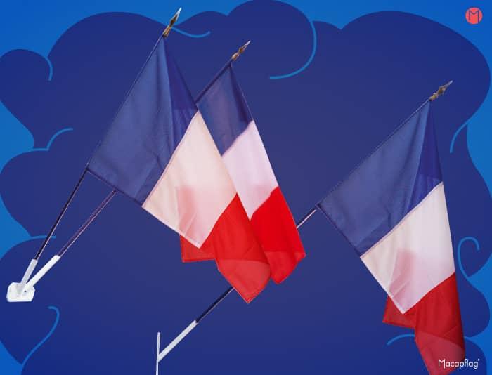 Le drapeau France de façade pour pavoiser les bâtiments